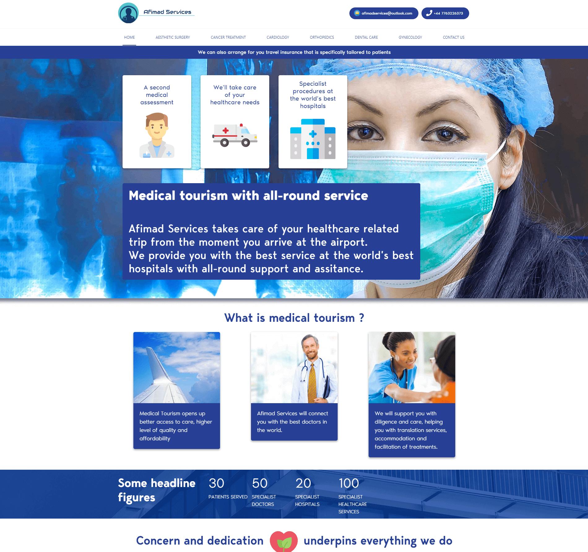 Afimad-Services – The-Medical Tourism Website